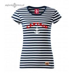 Koszulka damska w paski CAPTAIN