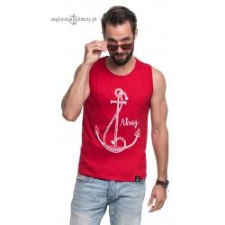 Koszulka męska bez rękawów AHOJ