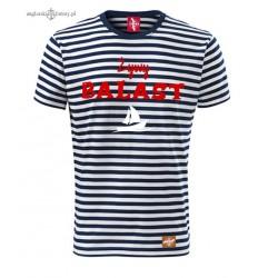 Koszulka unisex w marynarskie paski Żywy BALAST