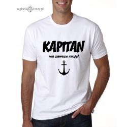 Koszulka męska premium KAPITAN ma zawsze rację!