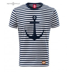 Koszulka unisex w marynarskie paski KOTWICA