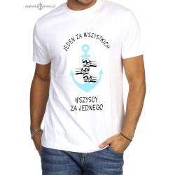 Koszulka męska premium JEDEN ZA WSZYSTKICH