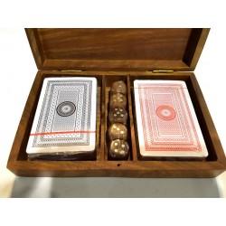Zestaw do gry w pudełku palisandrowym