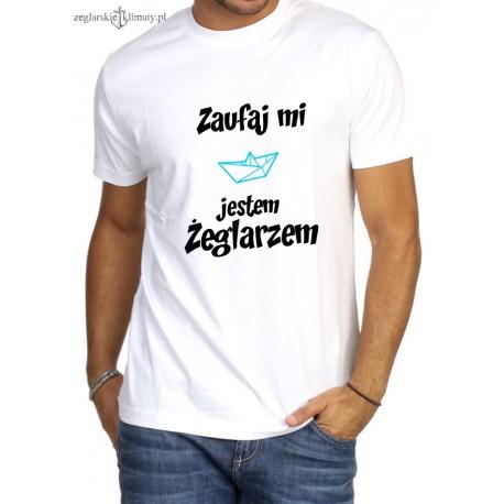 Koszulka męska premium Zaufaj mi...
