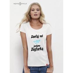 Koszulka damska premium Zaufaj mi...