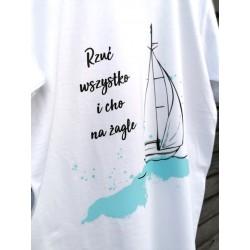 Koszulka męska premium Cho na żagle :-)