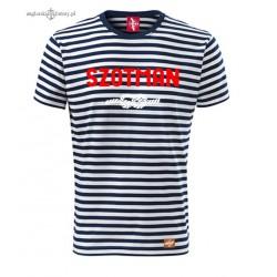 Koszulka unisex w marynarskie paski SZOTMAN