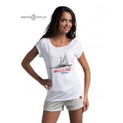 Koszulka damska biała Sailing Team