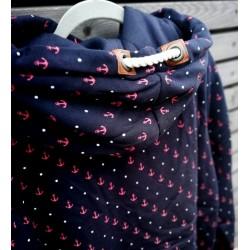 Bluza damska w kotwiczki granatowa