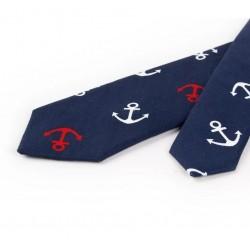 Bawełniany krawat w kotwiczki