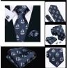 Komplet krawat w JACHTY + spinki + chustka do butonierki :-)