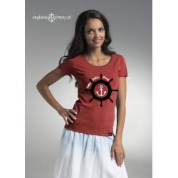 Koszulka damska malina Sama sobie sterem :-)
