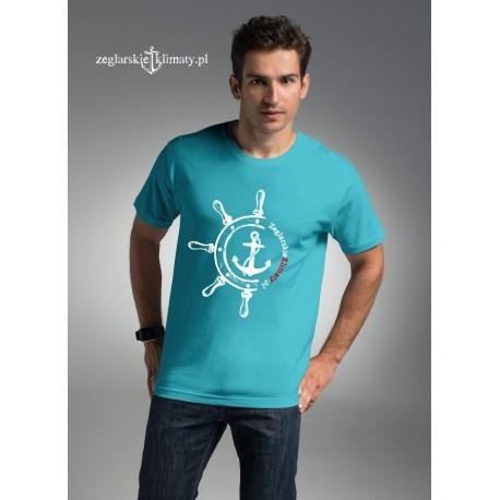 Koszulka męska Żeglarskie Klimaty turkusowa - STER