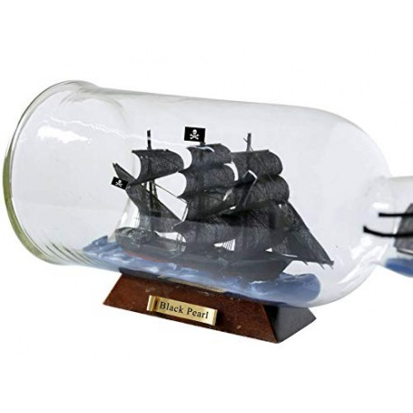 Statek piracki BLACK PEARL w butelce (rafandynka) - 22cm