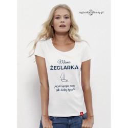 Koszulka damska premium Mama Żeglarka