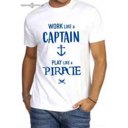 Koszulka męska premium Work like a Captain