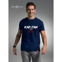 Koszulka męska premium strech KAPITAN + imię