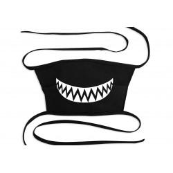 Maseczka ochronna bawełniana 3 warstwy (wielorazowa) - czarna