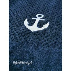Ręcznik bawełniany 50x100cm haft KOTWICA