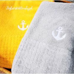 Ręcznik kąpielowy z haftem kotwica (70x140cm)