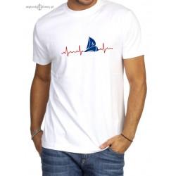 Koszulka męska premium EKG żeglarza :-)
