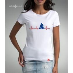 Koszulka damska premium EKG żeglarki :-)