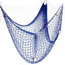 Sieć rybacka (niebieska) - dekoracja