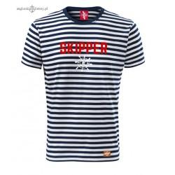 Koszulka w marynarskie paski SKIPPER