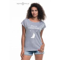 Koszulka damska szara Plan na emeryturę :-)