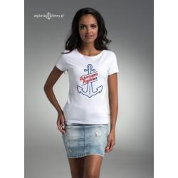 Koszulka biała premium Dziewczyna Kapitan(a)