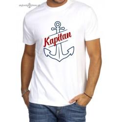 Koszulka męska biała premium KAPITAN