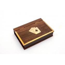 2 talie kart w pudełku palisander - książka