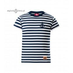 Koszulka dziecięca w paski + mała kotwiczka
