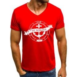 Koszulka męska czerwona ML Marine
