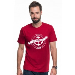 Koszulka męska premium (bordo) ML Marine