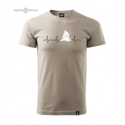 Koszulka uniseks premium plus kolor Puls Żeglarza 3D :-)