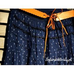 Spódnica krótka w kotwiczki