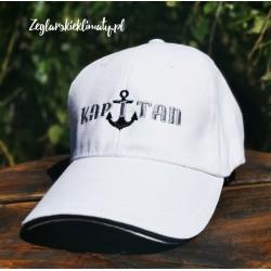 Czapka z daszkiem biała, haft KAPITAN :-)