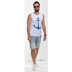 Koszulka męska bez rękawów KOTWICA (tank)