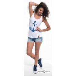 Koszulka damska bez rękawków KOTWICA (bokserka)