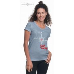 Koszulka damska róża wiatrów (100% organic cotton)