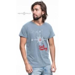 Koszulka męska róża wiatrów (100% organic cotton)