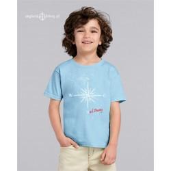 Koszulka dziecięca błękitna róża wiatrów Sail Away (1-6 lat)