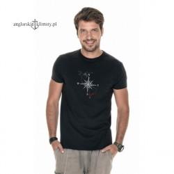Koszulka męska premium plus - róża wiatrów