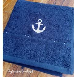 Ręcznik bawełniany 50x100cm - haft KOTWICA