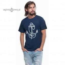 Koszulka męska vintage rys KOTWICA