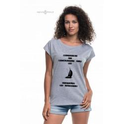 Koszulka damska WSZYSTKO CO WYDARZYŁO SIĘ NA JACHCIE