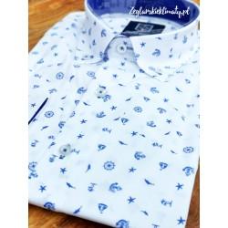 Koszula męska - stery, kotwice, palmy