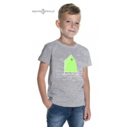 Koszulka dziecięca premium OPTIMIST 5-12 lat (szary melanż)