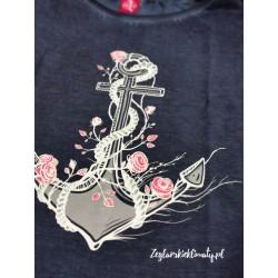 Koszulka damska vintage KOTWICA Z RÓŻAMI (g)